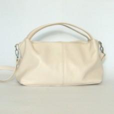 Кожаная женская сумка Сальма бежевая