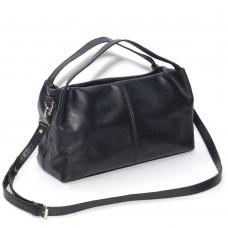 Кожаная женская сумка Сальма черная