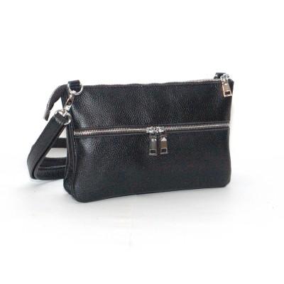 Кожаная женская сумка Лия черная