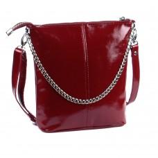 Кожаная женская сумка Одри бордо наплак